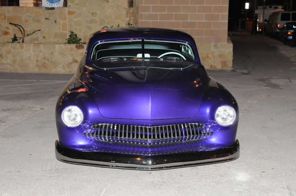 Hotrod Mercury owned by rock star Charlie Sexton outside the Austin Music H