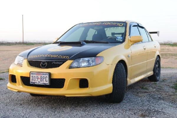 kingsnake racing 2003.5 MazdaSpeed Protege gets an adjustable aluminum wing