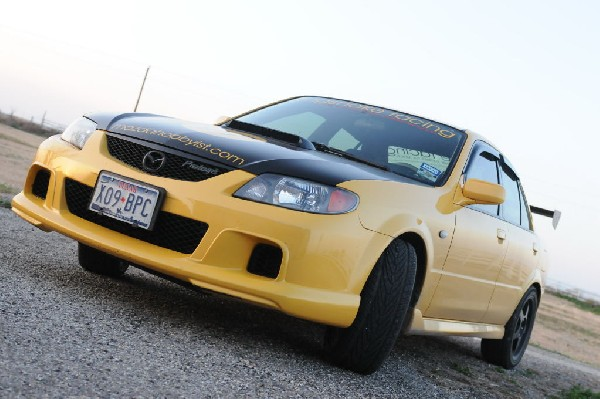 kingsnake racing 2003.5 MazdaSpeed Protege gets an adjustable aluminum wing
